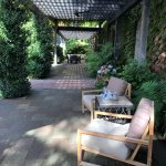 Caymus outdoor patio area