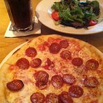 Pepperoni pizza and house salad lunch special