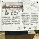 Historic marker at the Richmond bridge