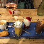 Dessert sampler with espresso