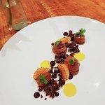 Chocolate Orange Mousse, Spiced Chocolate Soil, Orange Jelly, Charred Orange Segments