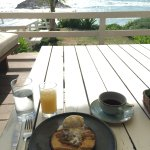View from breakfast - corn meal pancake.