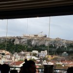 View of the north side of the Acropolis from the Rooftop!