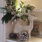 They decorate with tasteful silvery, sparkly decor around the holidays.