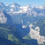 Wengen Mannlichen Aerial Cableway - view of the valley below as you ride to the top