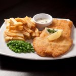 Our tasty fish and chips!