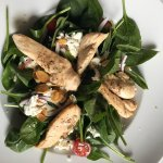 The Westover classic spinach chicken salad.