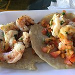 Shrimp Tacos (Close UP)