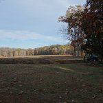 View from the mule shoe on the battlefield