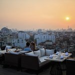 Sunset at the rooftop of Tirant hotel