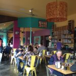 Funky and full of character, the atmosphere in Moonlight Pizza and Brewpub is vibrant.