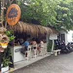 Coffee bar at the street entrance