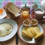 Breakfast at the garden terrace