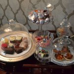 """A portion of the extensive """"sweets trolley"""""""