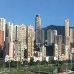 Vue de Causeway Bay prise de la chambre 1608 au 16ème étage