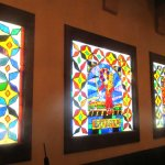 Stained Glass, Torquoise Room, La Posada Hotel, Winslow, Arizona
