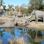 Outside the La Brea Tar Pits.