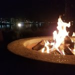 One of the many awesome fire pits outside.