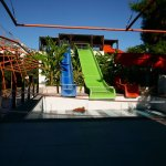 The closed water slides pool