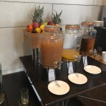 Juice jar at breakfast - you have a mess when the the watery part and the fruity part separate.