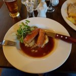 Pork belly with mustard mash