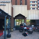 Motorcycle parking was allowed right outide the lobby/entrance, didn't help with rgds to theft