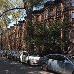 Park Slope Street with Brownstones