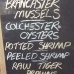 Fish Menu available from Fish Shop at Sole Bay