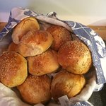 Lovely breakfast bread rolls made by Guðrún. Delish!