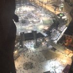 View of the Haram/Kabaa from our room.