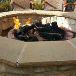 Nice touch fire pit already going...very clean quick overnight stay..during a HOCKEY tournament!