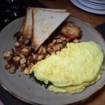 Three Egg Omelet with cheese and spinach