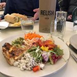 the salad plate and quiche