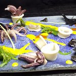 """""""Under the sea"""" Squid and Octopus Appetizer"""