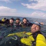 Rocky Boudreau from Rockdivers Costa Rica and my daughters and me.
