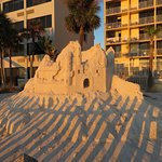 This beautiful sand sculpture was just outside Sloppy Joe's telling the history.