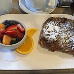 Sticky Bun French Toast and Fruit