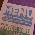 Brilliant idea for a menu!