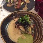 Menus à 39 et 49€ franchement un délice, foi gras, calamars, médaillon de lotte, filet de loup e