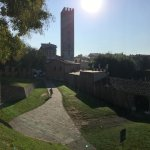 Pathway that drops down into the Old City of Lucca