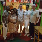 The owners and us, my husband is Panamanian we met a couple at the resort and we went here for d
