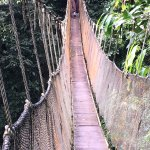 One of the longest hanging bridges (go two by two to control swinging)