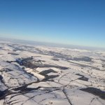 Snow over Wales