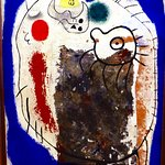 Joan Miro, Head, 2 October 1937, Oil, stucco, graphite pencil, screws and towel on celotex
