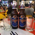 Food hot and fresh...tiger beer great too