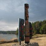 Totem Poles on Garrison Bay