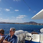 The Glass Bottom boat from Fuerta to Lanza 28 Euro open return