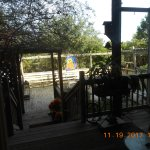 View out the back door to main porch