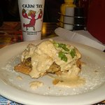 Fried green tomatoes with crabmeat