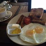 Eggs & sausage breakfast for 109 Baht